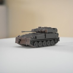 resin Models scene 2.434.jpg Download STL file FV107 Scimitar Light Tank • Template to 3D print, guaro3d