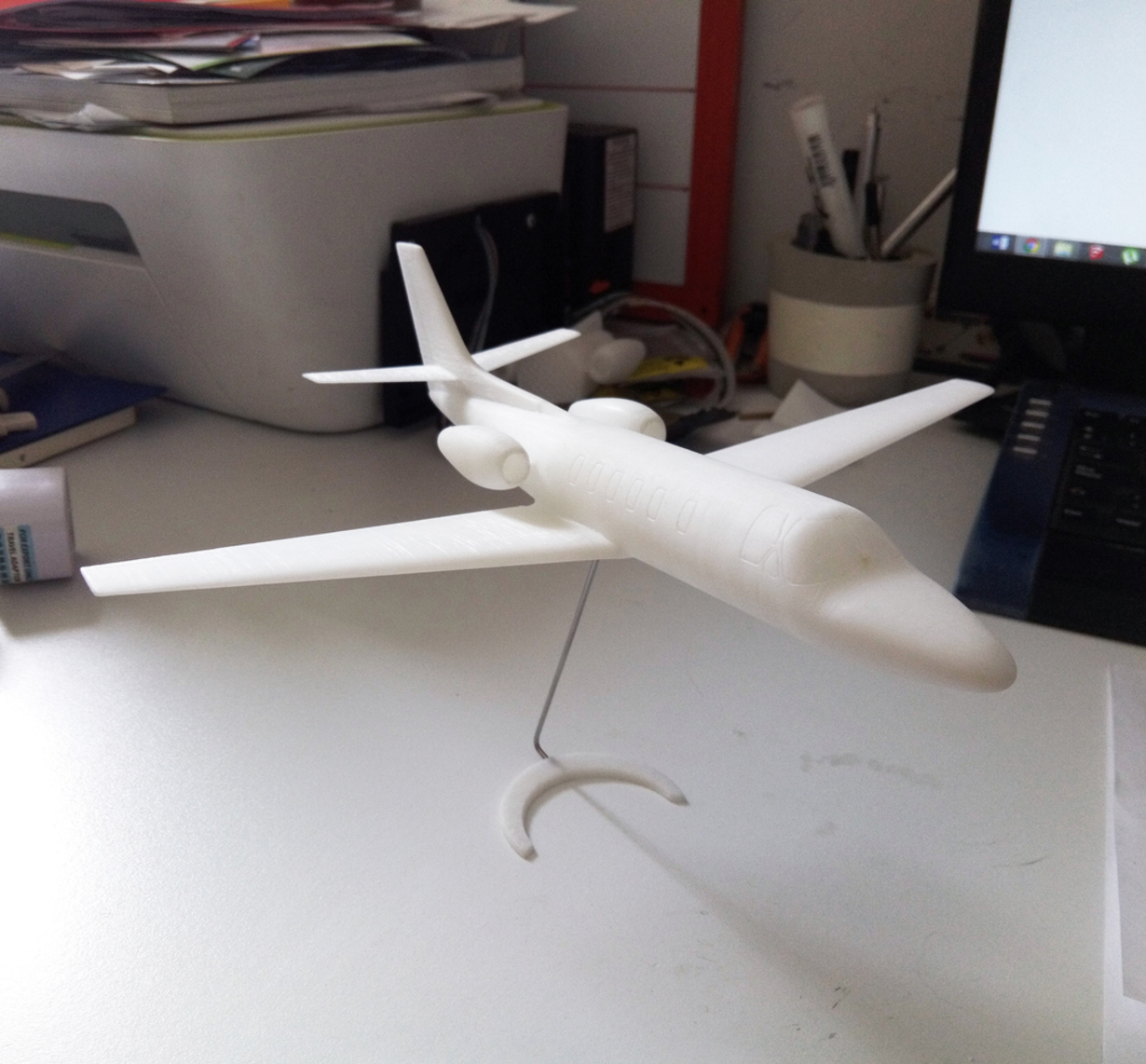 Capture d'écran 2017-04-25 à 19.12.35.png Download free STL file Easy to print Cessna Citation SII 1/64 aircraft scale model • 3D print template, guaro3d