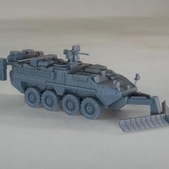 resin Models scene 1.221.jpg Download STL file Stryker M1132 ESV 1:64 Scale Model • 3D printable design, guaro3d
