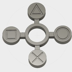 Free 3D printer file Playstation Handspinner v2, Erikum