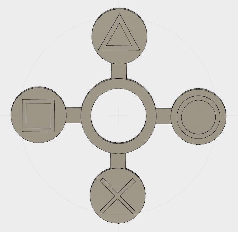 Sans titre-1.jpg Télécharger fichier STL gratuit Playstation Handspinner • Modèle imprimable en 3D, Erikum
