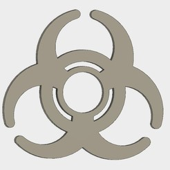 Free 3D printer designs Biohazard sign Hand Spinner, Erikum