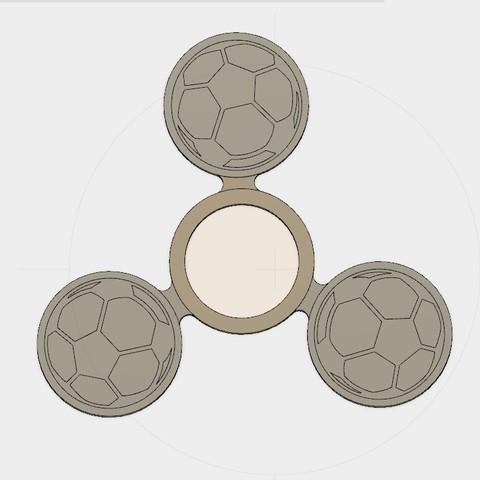 Free STL Soccer Hand spinner, Erikum