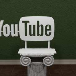 Fichier STL gratuit Logo youtube , valsant