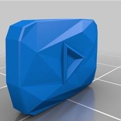 archivos stl botón de diamante youtube gratis, valsant