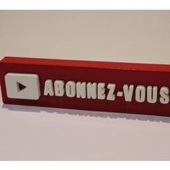 fichier imprimante 3d gratuit Youtube bouton , valsant