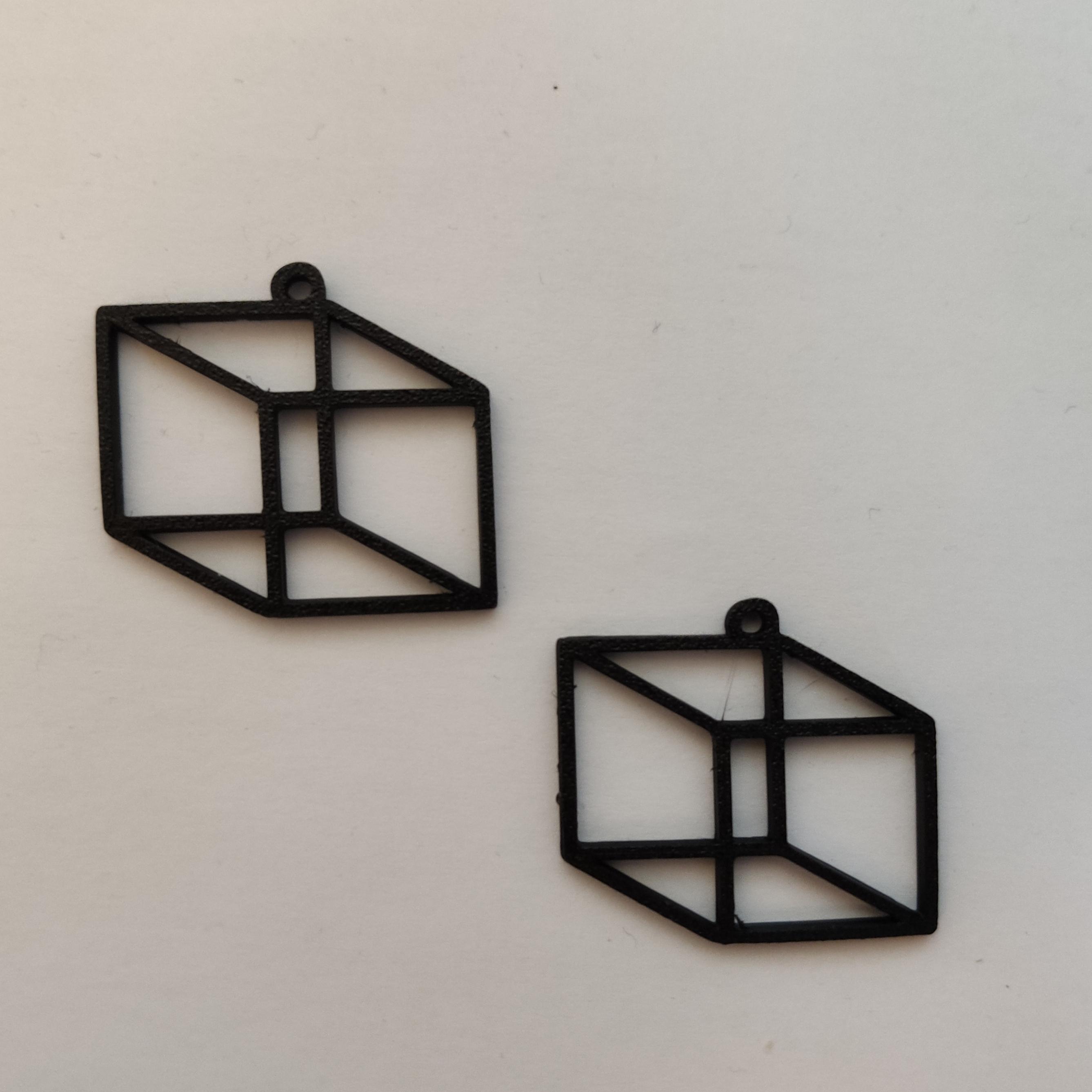 IMG_20210117_121853.jpg Télécharger fichier STL gratuit Cube Earring • Design à imprimer en 3D, koukwst