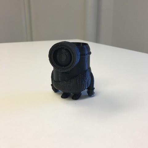 Plan 3D gratuit Pot en forme de Minion Préhistorique, cesumilo