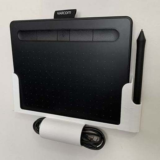 Download free STL file Wacom Intuos Drawing Tablet Wall Mount • 3D printer object, alexberkowitz