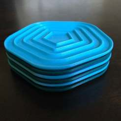 2017-09-05_08.03.33.jpg Download free STL file Stacking No-Stick Coasters • Model to 3D print, alexberkowitz