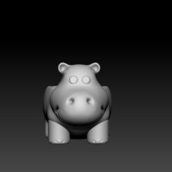 Download free 3D printer files Hippo planter , Royal2
