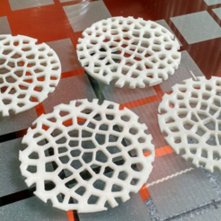 Download free STL file Voronoi Beverage Coasters • Design to 3D print, llaffa