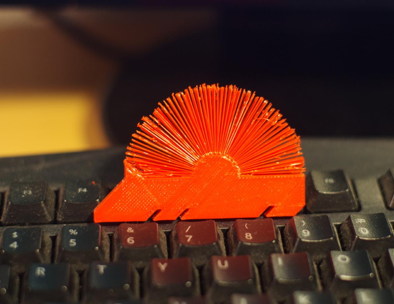 Capture d'écran 2017-05-04 à 10.24.47.png Télécharger fichier STL gratuit Hedgehog with spikes (hairy print) • Modèle pour imprimante 3D, llaffa