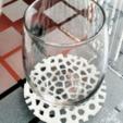 Free stl Voronoi Beverage Coasters, llaffa