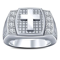 STL files 3D CAD Model For Jesus Cross Design Mens Ring, VR3D