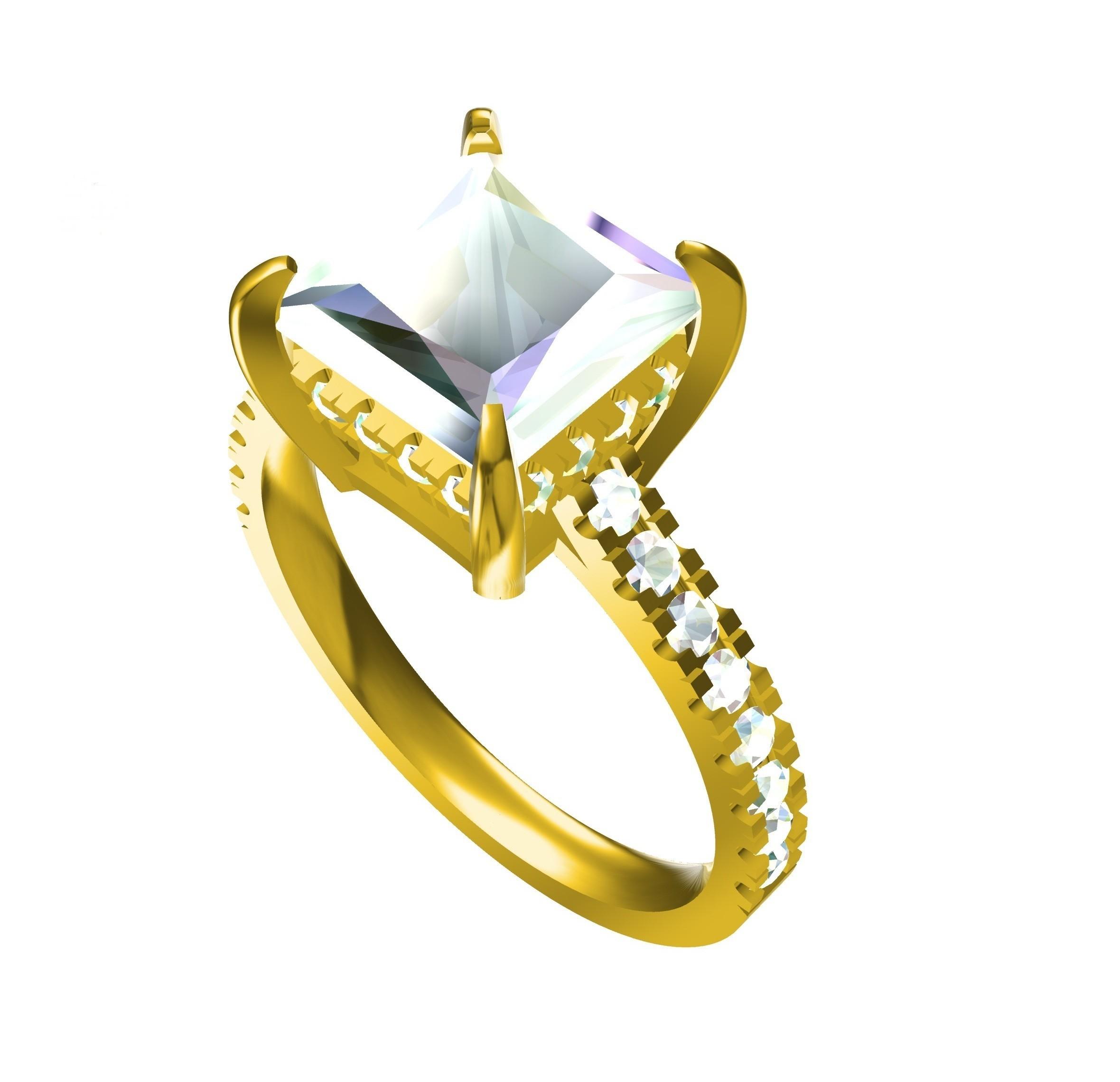 RG26856 (2) - Copy.jpg Download STL file Jeaelry 3D CAD Model For Wedding Ring • 3D print design, VR3D