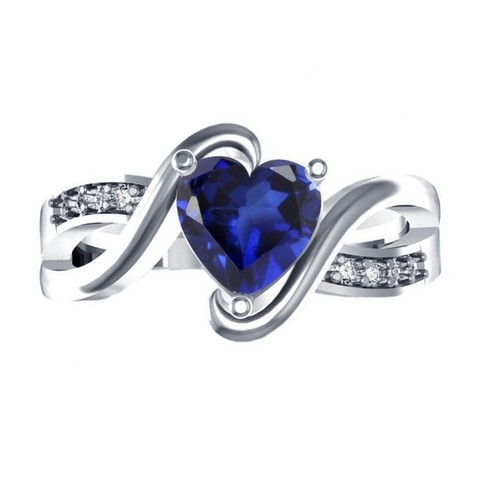 Download 3D printing templates Womens Special Heart Ring 3D CAD Design In STL Format, VR3D