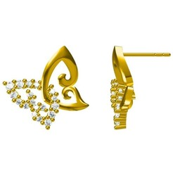 Download STL files Fancy Butterfly Design Earring CAD Model, VR3D