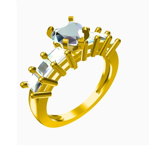 Download STL file New Design 3D CAD Model For Wedding Ring • 3D printer model, VR3D