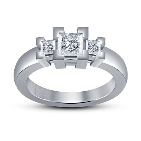 Free 3d print files Jewelry 3D CAD Model Womens Engagement Ring, VR3D