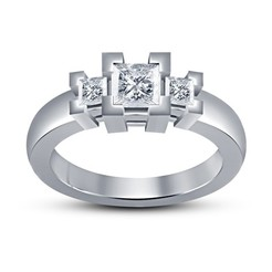 Download free 3D printer files Jewelry 3D CAD Model Womens Engagement Ring, VR3D