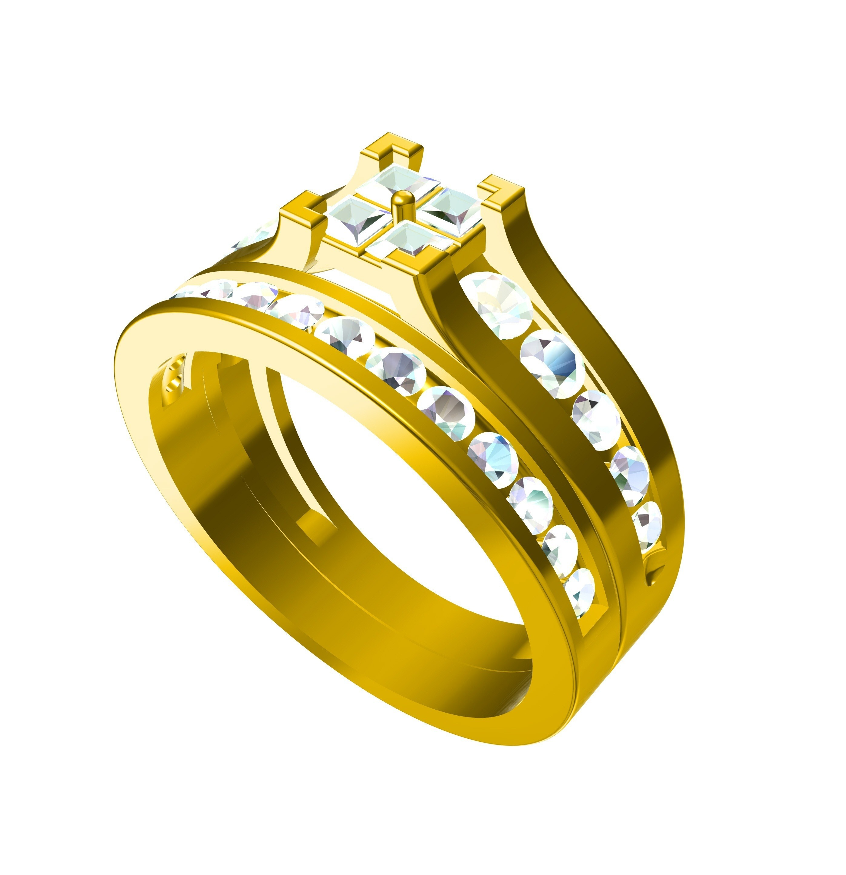 RG27114.jpg Download free STL file Jewelry 3D CAD Model In STL Fromat • Design to 3D print, VR3D