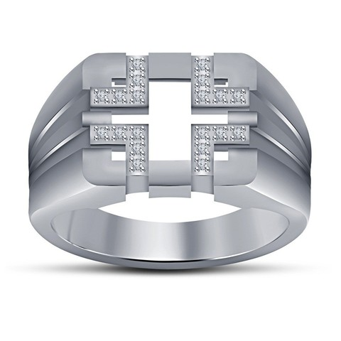 3042 - Copy.jpg Download free STL file Jewelry 3D CAD Model For Mens Ring • Model to 3D print, VR3D
