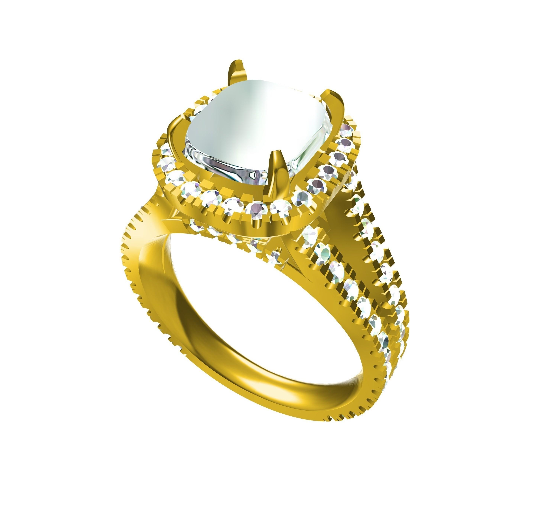 RG26818 - Copy.jpg Download STL file 3D CAD Model Of Womens Wedding Ring • 3D printable design, VR3D