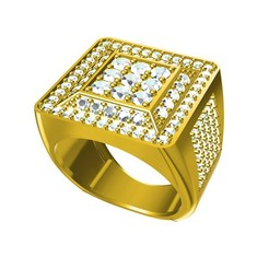 RG27111 (2).jpg Download free STL file Jewelry 3D CAD File Of Gents Ring • 3D printing design, VR3D