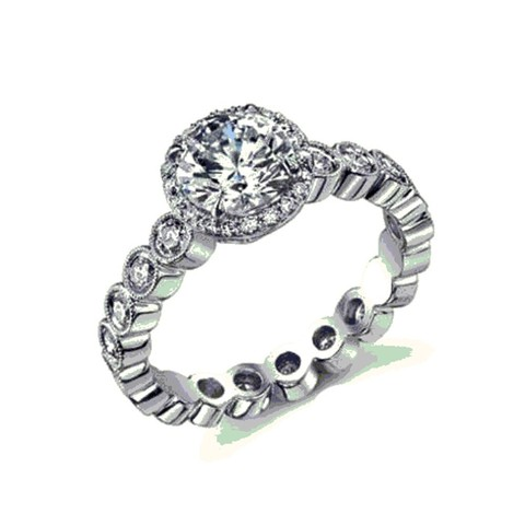 Download STL file Beautiful Engagement Ring 3D CAD Model In STL Format • 3D printable model, VR3D