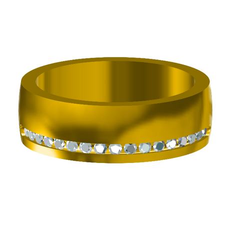 Free STL 3D Jewelry CAD Model For Womens Wedding Band , VR3D