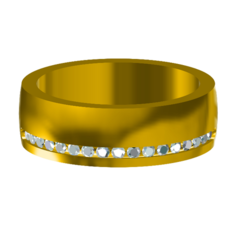 Download free 3D printer designs 3D Jewelry CAD Model For Womens Wedding Band , VR3D