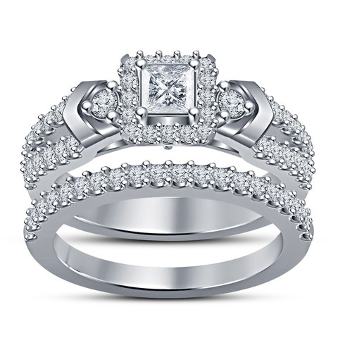 Download STL file Beautiful 3D Jewelry CAD Model For Bridal Ring Set • Model to 3D print, VR3D
