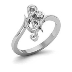 Download STL file Jewelry 3D CAD Model Of Treble Clef Design Ring • 3D printing object, VR3D