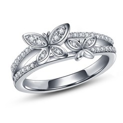 Download free 3D printing designs 3D CAD Model For Beautiful Butterfly Design Ring, VR3D
