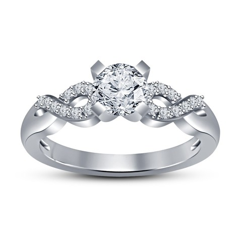 RF154166.jpg Download STL file Jewelry 3D CAD Model Womens Engagement Ring • 3D printable object, VR3D
