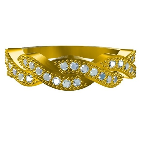 RF159868.jpg Download STL file Jewelry 3D CAD Model For Infinity Band • 3D printer object, VR3D