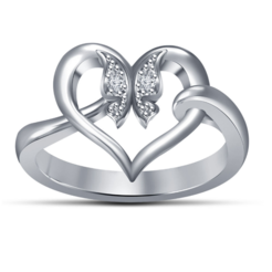 Download free 3D model 3D Jewelry CAD Model For Heart Ring In JCD Format, VR3D