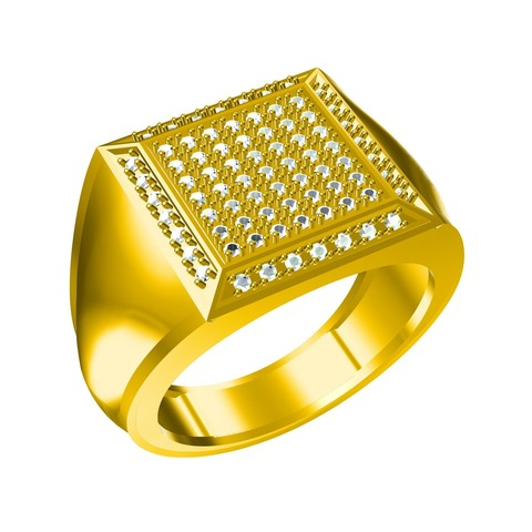 Download Free 3d Printer Templates Jewelry 3d Cad File Of Gents Ring Cults