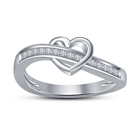 Download STL file 3D CAD Model For Beautiful Heart Ring • 3D printing template, VR3D