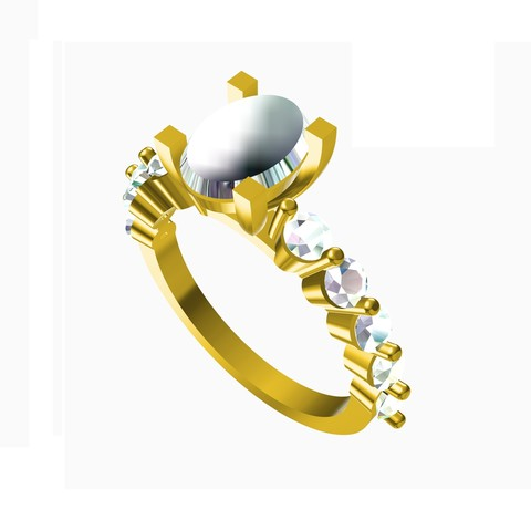 Impresiones 3D Diseño exclusivo de la joyería 3D del anillo de bodas, VR3D