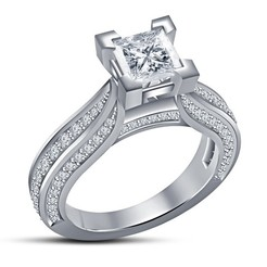 Download 3D printer files Jewelry 3D CAD Model Womens Engagement Ring, VR3D