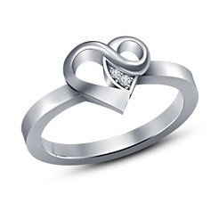 STL Jewelry 3D CAD Model For Heart Design Engagement Ring, VR3D