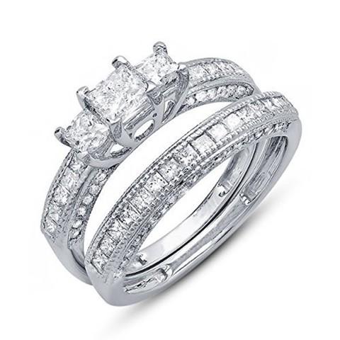 1.jpg Download STL file Artistic Jewelry 3D CAD Design Of Bridal Ring Set • 3D printer model, VR3D