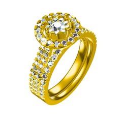 Impresiones 3D 3D Joyería CAD Archivo de boda anillo de novia conjunto, VR3D
