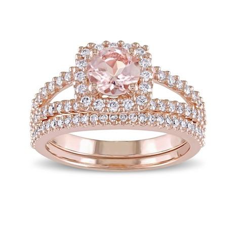 Download STL file 3D Jewelry CAD File Wedding Bridal Ring Set • 3D printer model, VR3D