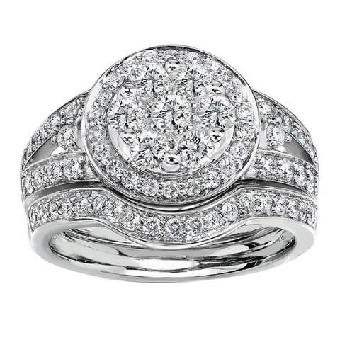 Download STL file 3D Jewelry CAD Model Of Wedding Bridal Ring Set • 3D printing design, VR3D