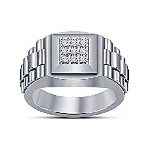 Download 3D printer files 3D CAD File For Gents Ring In STL Format, VR3D