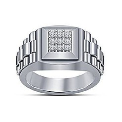 3d printer model 3D CAD File For Gents Ring In STL Format, VR3D