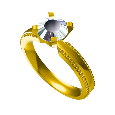 Free stl file FREE Download Jewelry 3D CAD Model For Wedding Ring, VR3D